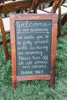 ceremony sign | Annamarie Akins