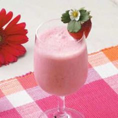 Strawberry shake.  We left out the yogurt because we didn't have any an they were still a yummy treat!