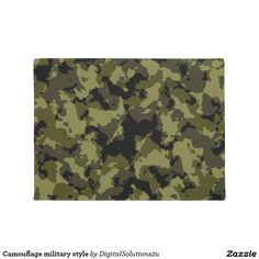 Camouflage military style doormat