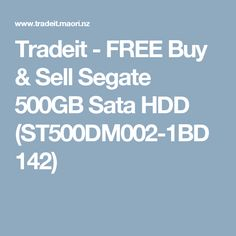 Tradeit - FREE Buy & Sell Segate 500GB Sata HDD (ST500DM002-1BD142)