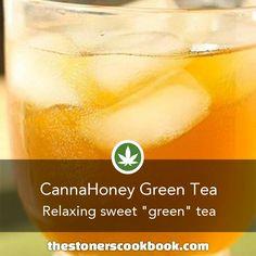 CannaHoney Green Tea from the The Stoner's Cookbook (http://www.thestonerscookbook.com/recipe/cannahoney-green-tea)