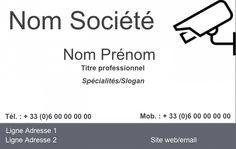 Carte De Visite Mtier La Scurit Modle Gratuit Personnaliser En Ligne