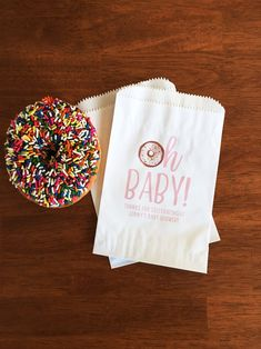 Oh Baby Shower Favor Bags Girl Baby Shower Donut Bags Oh | Etsy