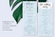 Printable Wedding Program Ceremony Template Marble Program | Etsy Diy Wedding Programs, Printable Wedding Programs, Wedding Ceremony, Opening Prayer, Program Template, Programming, Marble, Printables, Messages