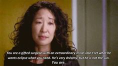 Grey's anatomy. Cristina Yang and her awesome exit.