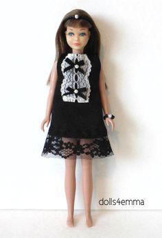 Vintage Skipper Doll CLOTHES Dress, Hairband & Jewelry HM Goth Fashion NO DOLL #DOLLS4EMMA #ClothingandJewelry