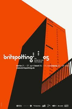 Britspotting Film Festival Design by upstruct Typography Images, Typography Poster Design, Graphic Design Posters, Graphic Design Inspiration, Web Design Studio, Graphic Design Studios, Brand Design, Festival Berlin, Film Festival