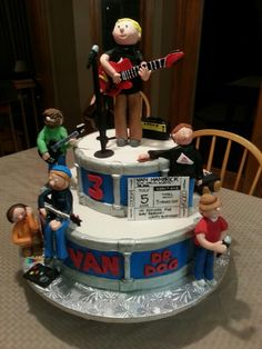 Van's 3rd birthday cake with his favorite band Dr. Dog