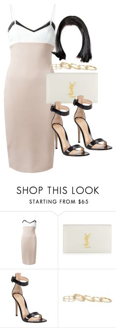 """""""Style  #10589"""" by vany-alvarado ❤ liked on Polyvore featuring Victoria Beckham, Yves Saint Laurent, Gianvito Rossi and Kendra Scott"""