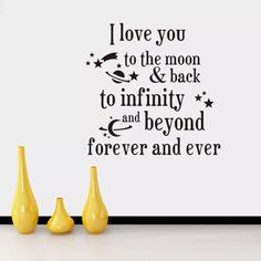 I Love You To The Moon And Back Quotes Wall Stickers Decal Words Lettering Saying Wall Decor Sticker Vinyl Wall Art Stickers Decals Home Decor Wall Decals Home Decor Wall Sticker From Billshuiping, $2.02| Dhgate.Com