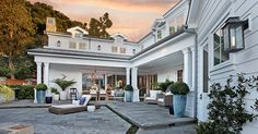 Waverly Drive Custom Home | Portfolio | Patterson Custom Homes - I like hardscape and pots used.