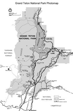 Grand Teton National Park interactive photomap. Shows the best places to photograph within the park.