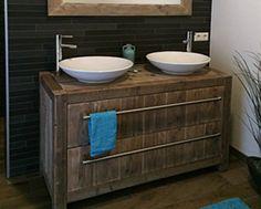 Badkamermeubel hout steigerhout