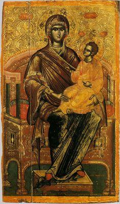 Byzantine Icons, Byzantine Art, Religious Icons, Religious Art, Medieval Art, Renaissance Art, Orthodox Catholic, Orthodox Icons, Mother Mary