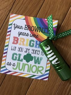 A Personalized Flashlight is the perfect gift for your bridging Girl Scout!