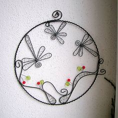 vážky v kruhu 17cm