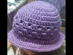 "Cappello ""Cloche""all'uncinetto/Hat ""Cloche"" crochet /Sombrero del ganchillo ""Cloche"" - YouTube"