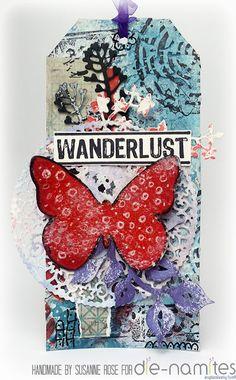 Susanne Rose - Papierkleckse: Wanderlust - Mixed Media Tag