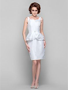 Sheath/Column Strapless Knee-length Taffeta Mother of the Br... – USD $ 129.99