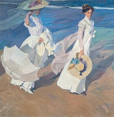 Joaquin Sorolla y Bastida Strolling along the Seashore print for sale. Shop for Joaquin Sorolla y Bastida Strolling along the Seashore painting and frame at discount price, ships in 24 hours. Spanish Painters, Spanish Artists, Figure Painting, Painting & Drawing, Art Graphique, Beach Walk, Fine Art, Oeuvre D'art, Les Oeuvres