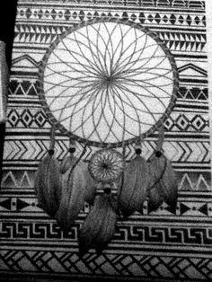 My dreamcatcher drawing is done! :)