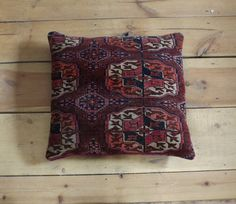 Antique persian rug pillow/cushion by travellinglight on Etsy