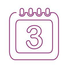 Purple calendar line icon. Pastel Color Wallpaper, Colorful Wallpaper, Lavender Aesthetic, Purple Aesthetic, Shortcut Icon, Iphone App Design, App Icon Design, App Logo, Iphone Icon