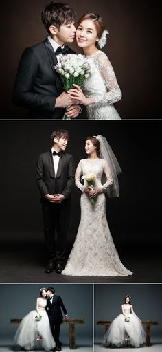 Simple and clean korean wedding photography concepts