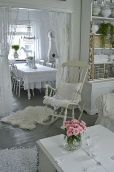 Shabby Chic ~ I love this, but it is just a little too much white for me. I need color.