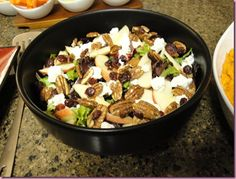 Fall Apple, Walnut, Goat Cheese, Cranberry Salad