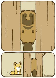 The cartoon of Atamoto ( Cute Kawaii Animals, Kawaii Cute, Kawaii Anime, Cute Pictures To Draw, Fox Illustration, Dibujos Cute, Anime Animals, Cute Comics, Cute Friends