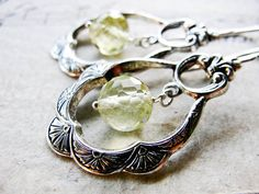 P O E T R Y... Lemon quartz silver earrings. Starting at $1 on Tophatter.com!