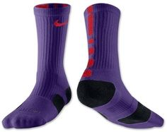 new style c8dc0 7ff41 NWT Nike Elite Cushioned Crew Socks Purple Red Men s 6-8 Women s 6-10 SX3692    eBay