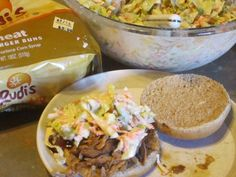 Slow Cooker (Local) Pulled BBQ Pork & Homemade Coleslaw