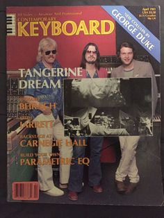 contemporary keyboard april 1981 tangerine dream from $7.48