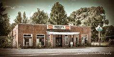 Old service station near Drummonds, TN.