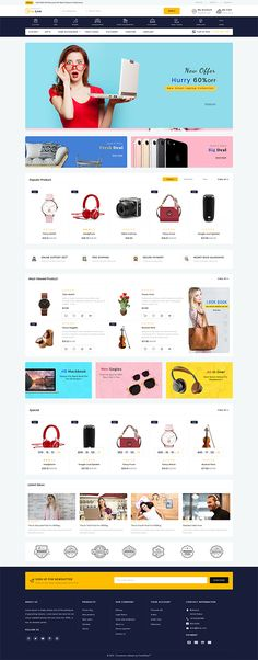 ShopLive- The Easy Shop Template is a good choice for selling Website Design Inspiration, Website Design Layout, Web Design, Tool Design, Flyer Design, Computer Theme, Ecommerce Website Design, Photoshop, Website Themes