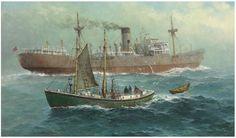 American marine painter John Lorimer Gray (1927-1981)