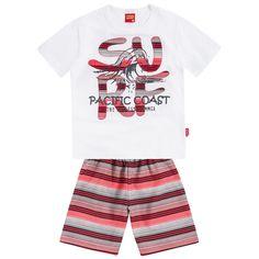 Conjunto infantil menino em meia malha e poliéster - Kyly Fashion Kids, Kids Boys, Baby Kids, Baby Boy Dress, Summer Design, Summer Girls, Boy Outfits, Sons, Swimwear