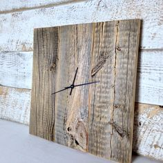 Hey, I found this really awesome Etsy listing at https://www.etsy.com/listing/180881702/barn-wood-wall-clock