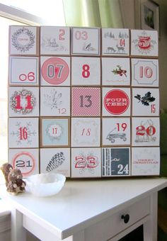 Advent Calendar/Vintage-Style Decoration by Vintage Modern Mix - contemporary - holiday decorations - Etsy
