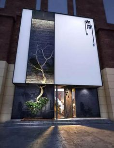 Look at 'more like this' pictures 咖 啡 厅 in 2019 современная архит Design Exterior, Facade Design, Restaurant Exterior, Restaurant Design, Building Facade, Building Design, Retail Facade, Retail Store Design, Signage Design