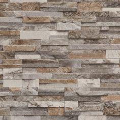 Brick Effect Wallpaper Slate Stone Wall Textured Vinyl Brown Grey Beige Brick Wallpaper Uk, Brick Wallpaper Bathroom, Textured Brick Wallpaper, Look Wallpaper, Feature Wallpaper, Textured Walls, Grey Wallpaper For Kitchen, Grey Slate Wallpaper, Wallpaper Paste
