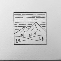 Little something square for today! Hope you have a fantastic day so far! Cute Little Drawings, Mini Drawings, Cute Easy Drawings, Cool Art Drawings, Pencil Art Drawings, Art Drawings Sketches, Doodle Art Drawing, Doodle Art Journals, Ink Illustrations