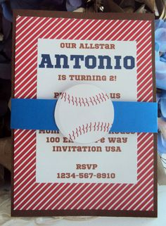Baseball Invitation Sports Birthday invitation by TooCuteInvites, $25.00