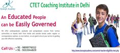 """""""CTET Coaching Institute in Delhi to Flavour Teaching Career""""  Preparing well for ctet exams help in scoring actual marks to join in central school as a teacher; so you must look for ctet coaching institute in delhi for superb ctet coaching classes in delhi that help in preparing for exams excellently.  See http://konceptacademykarolbagh.blogspot.in/2015/10/benefits-from-ctet-coaching-institute-in-delhi-to-clear-exam.html"""