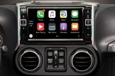 Alpine has partnered with Apple to bring CarPlay integration to your Wrangler! Apple CarPlay is the safer, smarter way to use your iPhone in your Jeep; CarPlay features Siri voice control in addition to the touch controls on the screen. CarPlay uses your Jeep Wrangler Interior, 2011 Jeep Wrangler, Jeep Jk, Jeep Wrangler Unlimited, Jeep Wrangler Accessories, Jeep Accessories, Jeep Mods, Jeep Gladiator, Jeep Life