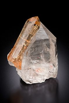 Imperial Topaz on Quartz - Brazil