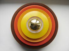 RARE MID CENTURY MODERN POP ART WALL LAMP SCONCE DESIGNED AND MANUFACTURED IN 1970s BENT KARLBY ERA  Up for sale a lovely mid century modern wall