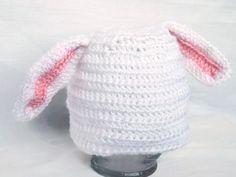Bunny Ear Crochet Hat - Baby / Toddler - Easter Hat by AbigailsAttic112